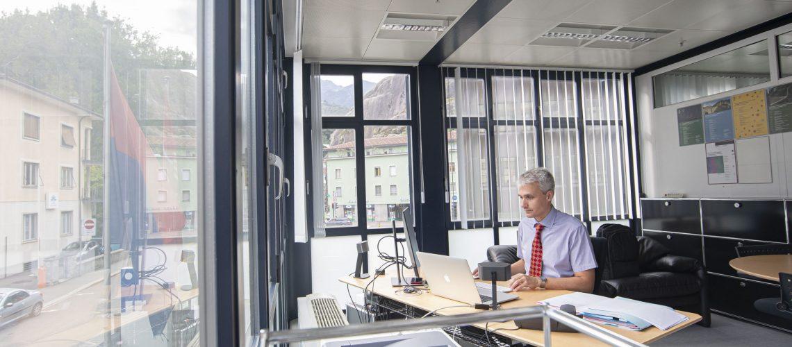 Bellinzona: Davide Robbiani, nuovo Direttore Istituto di Ricerca in Biomedicina IRB. Nella foto Davide Robbiani nuovo direttore IRB. © Keystone-SDA / Ti-Press / Pablo Gianinazzi